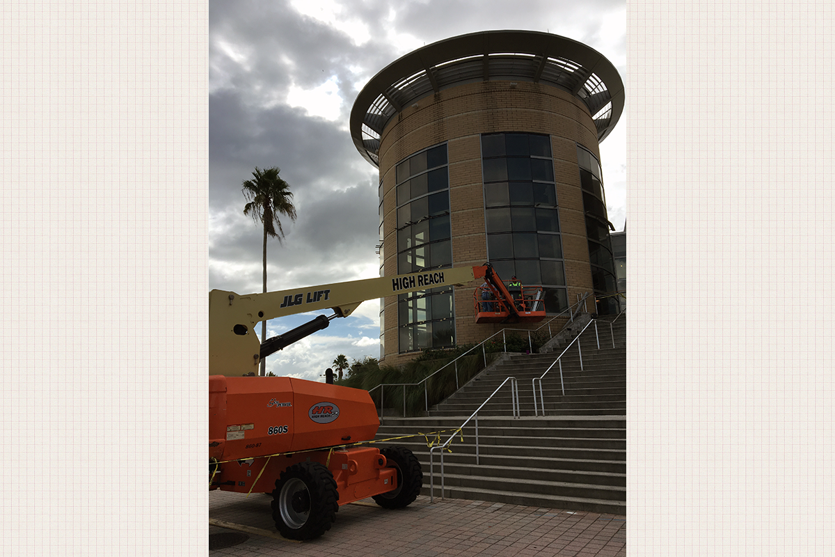 UCF Rec and Wellness Center Window Sealing